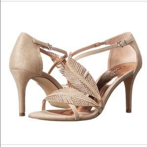 Carlos Santana leaf sandals heeled jeweled size 8